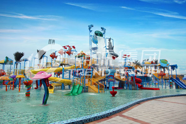 Summer Outdoor Aqua Park Games FiberglassWater Park Attractions for Theme Park